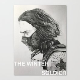 The Winter Soldier (sketch) Canvas Print