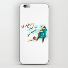 Lost birds iPhone & iPod Skin