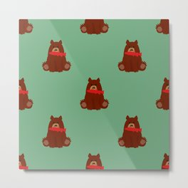 Bear with a fish in his mouth Metal Print