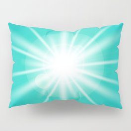 turquoise and light effect Pillow Sham