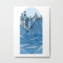 Sea cliff Town Metal Print