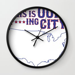Boston Strong - This is our f***ing city - USA on light Wall Clock