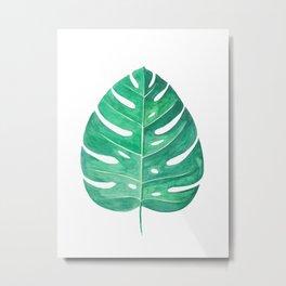 Monstera Leaf #2 | Watercolor Painting Metal Print