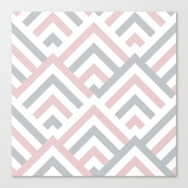 Pink + Gray | Brentwood Abstract Art Canvas Print