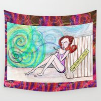 siren Wall Tapestries featuring Siren Kiss by DawnMerrow