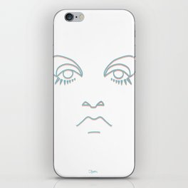Twiggy in blue and rose gold iPhone Skin
