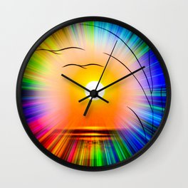Sunset abstract Wall Clock