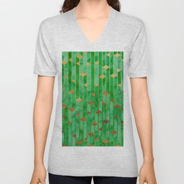 Marble Skyscrapers - Green Unisex V-Neck
