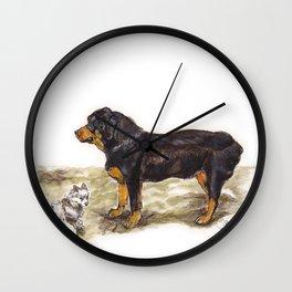 Chainsaw & Elwood Wall Clock