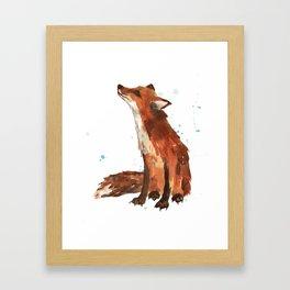 Mindful Fox Framed Art Print