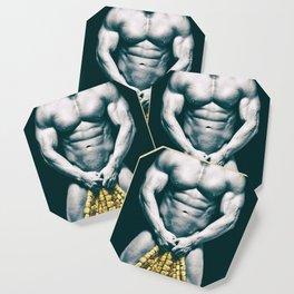 Draped Male Nude - Distressed Treatment (001) Coaster