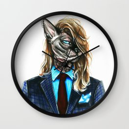 My hipster sphynx Wall Clock