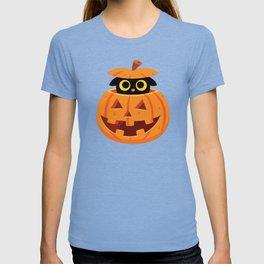 Cute Kitty Hidden Inside a Pumpkin T-shirt