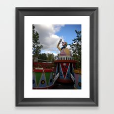 Over Grown Clown Ride Framed Art Print