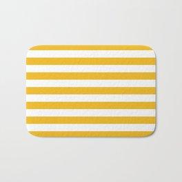 CVS0087 Amber Yellow and White Stripes Bath Mat