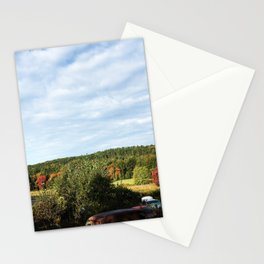 Junk yard in the Fall Stationery Cards