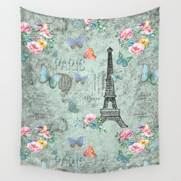Paris - my love - France Eiffeltower Nostalgy - French Vintage Wall Tapestry