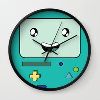 bmo Wall Clocks featuring BMO by Kezarah