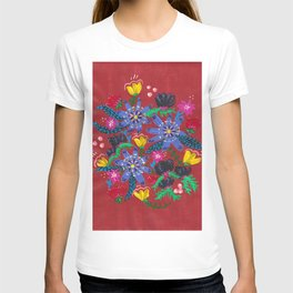Blue Blooms T-shirt