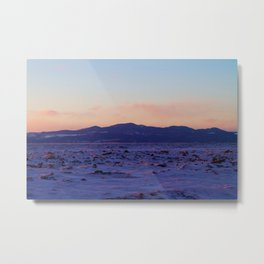 Mountain Sunset in the winter Metal Print