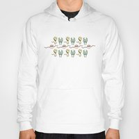 sticker Hoodies featuring sticker monster pattern 8 by freshinkstain