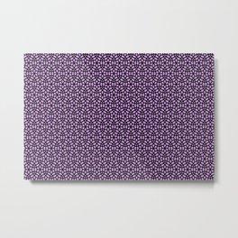Round Circles pattern Graphic - violet Metal Print