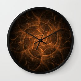 MANDALA.FIRESTORM Wall Clock