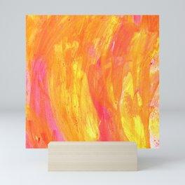 Sunny Yellow Vibes Abstract Mini Art Print