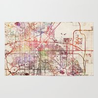 denver Area & Throw Rugs featuring Denver by MapMapMaps.Watercolors