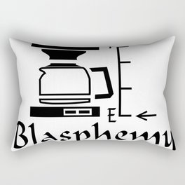 Empty coffee pot blas Rectangular Pillow