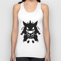 gengar Tank Tops featuring Who's That Inkblot?  It's Gengar! by DelverStudios