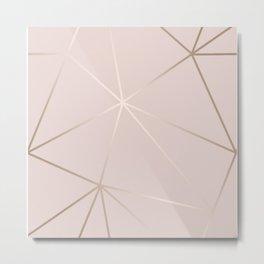 Rose Gold Geometric Pattern Metal Print