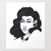 50s Art Prints featuring 50s girl by Cecil Addams