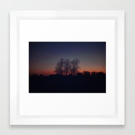 Into the Dusk Framed Art Print