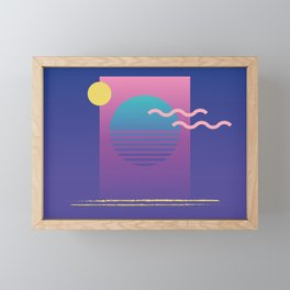 Memphis Pattern 36 / 80s - 90s Retro Framed Mini Art Print
