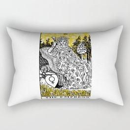 A Floral Tarot Print - The Empress Rectangular Pillow