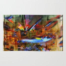 painting fish Rug