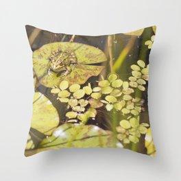 frogger... Throw Pillow