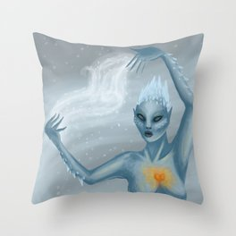 Ice Wraith Throw Pillow