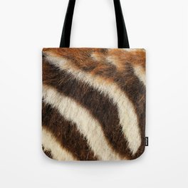Zebra Fur Tote Bag