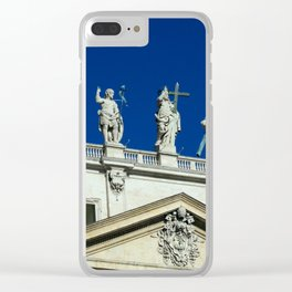 Vatican Statues Clear iPhone Case