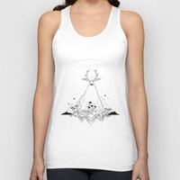 animal crew Tank Tops featuring Animal by R. Gilbert