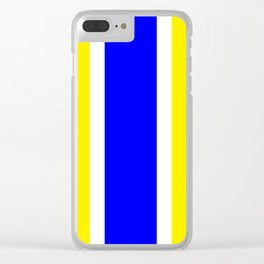TEAM COLORS 10...BLUE,YELLOW Clear iPhone Case
