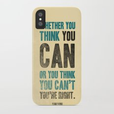 Think you can or can't iPhone X Slim Case