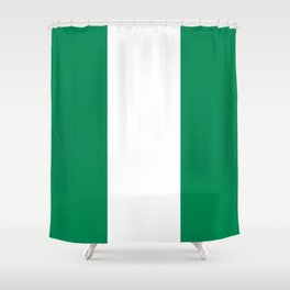 Flag of Nigeria - Authentic High Quality image Shower Curtain