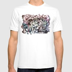 Domestic Parade MEDIUM White Mens Fitted Tee