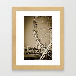 Ferris Wheel, Long Beach CA Framed Art Print