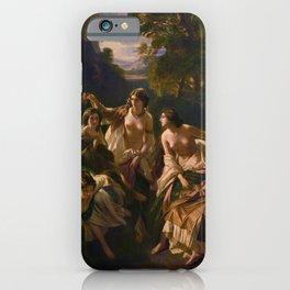 "1853 Classical Masterpiece ""Florinda"" by Franz Xaver Winterhalter iPhone Case"