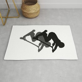 Scooter Boy - Stunt Scooter #5 Silhouette Rug