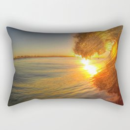 Chris Harsh Photos * Golden Wave At Dawn Rectangular Pillow